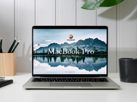 Free Front View MacBook Pro Mockup