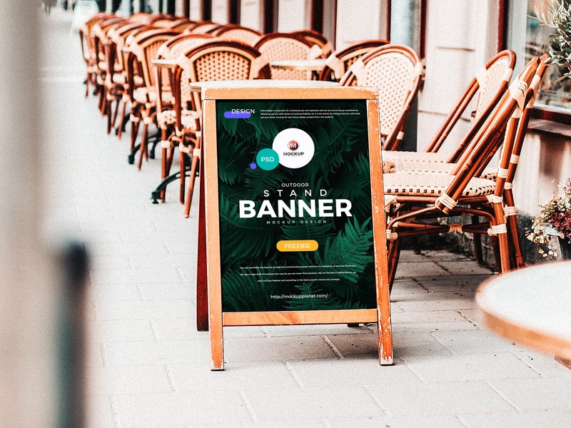 Free Outdoor Advertising Stand Banner Mockup psd print template stationery mockups logo identity freebie free banner mockup poster mockup mockup psd mockup free free mockup mock-up mockup frame mockup stand mockup download branding