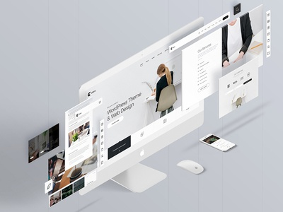 Free Perspective Web & Mobile App PSD Mockup