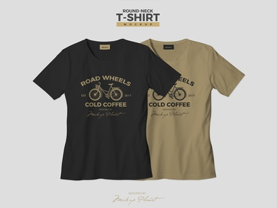 free round neck t shirt mockup psd template