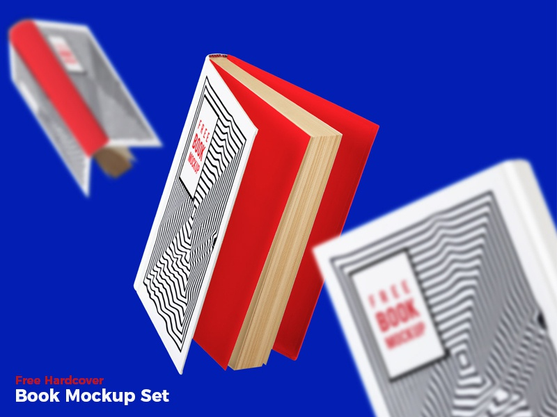 Download Free Hardcover Book Mockup Set