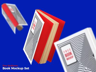 Free Hardcover Book Mockup Set