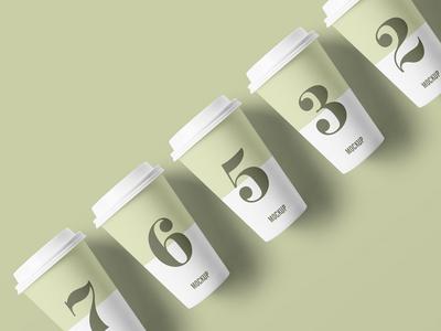 Free Packaging Paper Cup Mockup