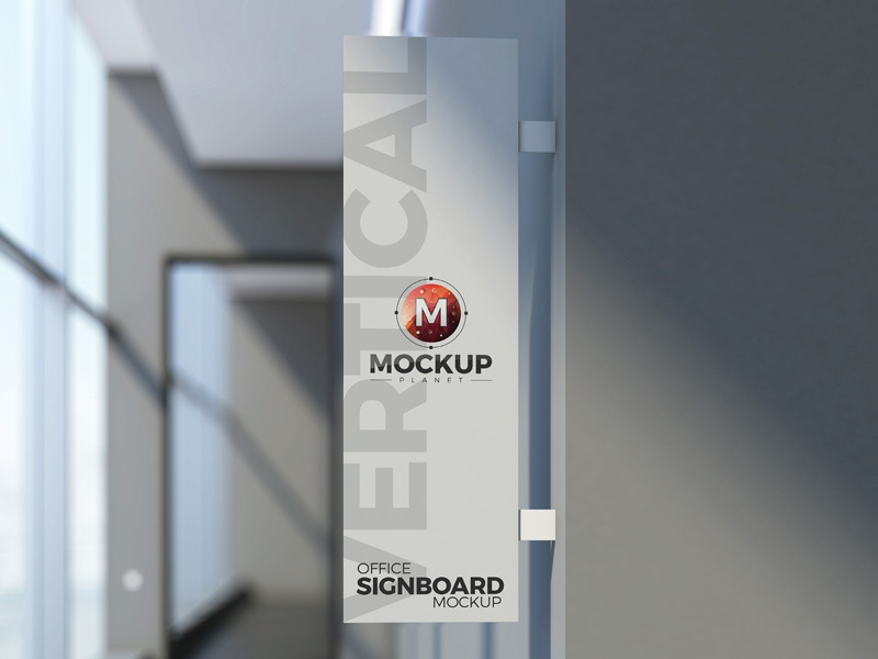 Free Office Vertical Signboard Psd Mockup By Mockup Planet On Dribbble