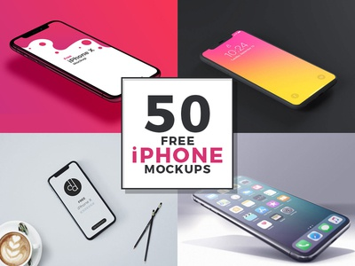 50 Free iPhone Mockups For Designers Of The World