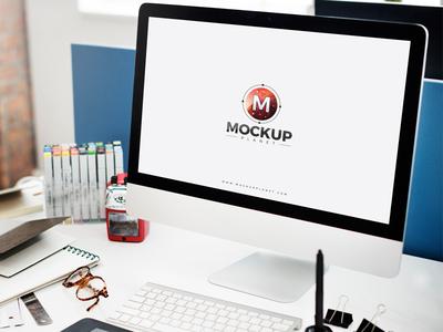Free Computer Website Mockup For Ui Presentation