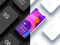 Free Iphone X Clay Isometric 2 Fully Customizable Mockup Psd 201