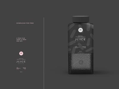 Free Juice Bottle Mockup Psd 2018