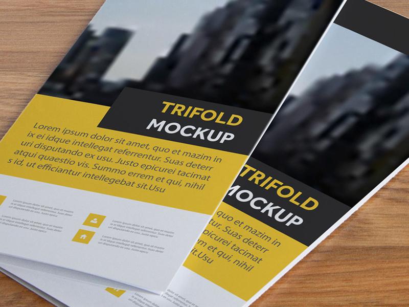 free tri fold brochure mockup by mockup planet dribbble dribbble