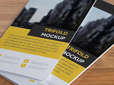 Free Tri Fold Brochure Mockup advertising branding psd freebie free mockup psd free mockup mockup free mockup tri-fold brochure mockup brochure mockup
