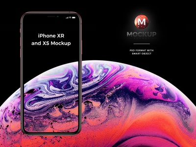 Free Apple New iPhone Xr Mockup and iPhone Xs Mockup PSD 2018
