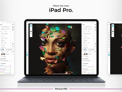 Apple New 2018 iPad Pro Mockup Freebie