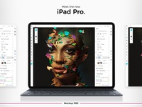 Apple New 2018 iPad Pro Mockup Freebie