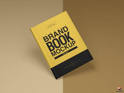 Free Brand Book Cover Mockup PSD
