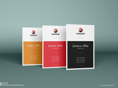 Free Brand Vertical Psd Business Cards Mockup