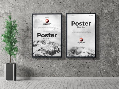 Free Indoor Poster Mockup PSD