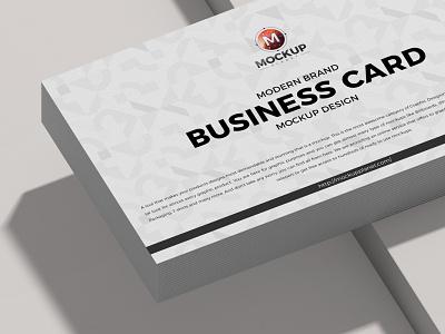 Free Modern Brand Business Card Mockup Design psd print template stationery mockups logo identity freebie free business card business card mockup mockup psd mockup free free mockup mock-up mockup frame font download branding
