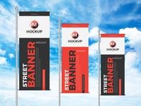 Free Street Banner Mockup Design