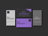 Top View Brand Business Card Mockup Design