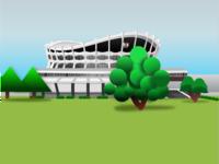 Isometric 3D National Theatre Lagos