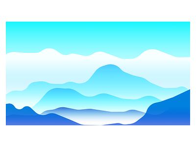 Mountains gradient vector illustrator figmadesign figmaafrica figma