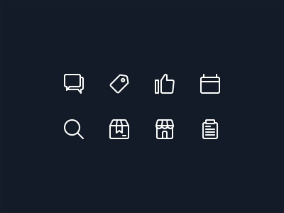Outline icons exploration for ecommerce UI project icon set userinterface uidesign homepage ui design ui icon icon design ui  ux design iconography ecommerce