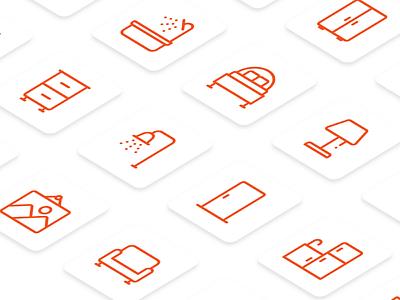 Furniture Icons productdesign graphicdesigner uidesign icondesign iconography iconset iconutopia
