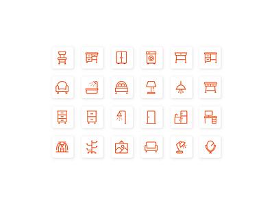Furniture icon pixel perfect icon designer ui designer icon set icon design iconography icon