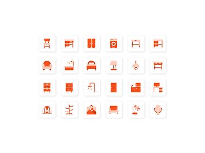Flat furniture icon user interface iconutopia system icon icon set icon design iconography icon