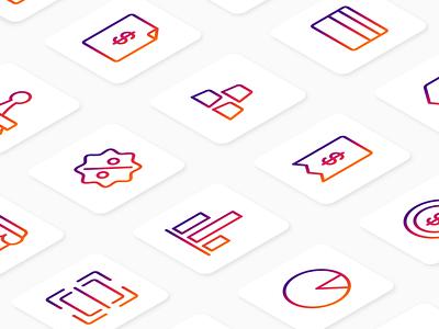 Money and accounting icon set gradients user interface system icon iconutopia iconography icon set icon design icon