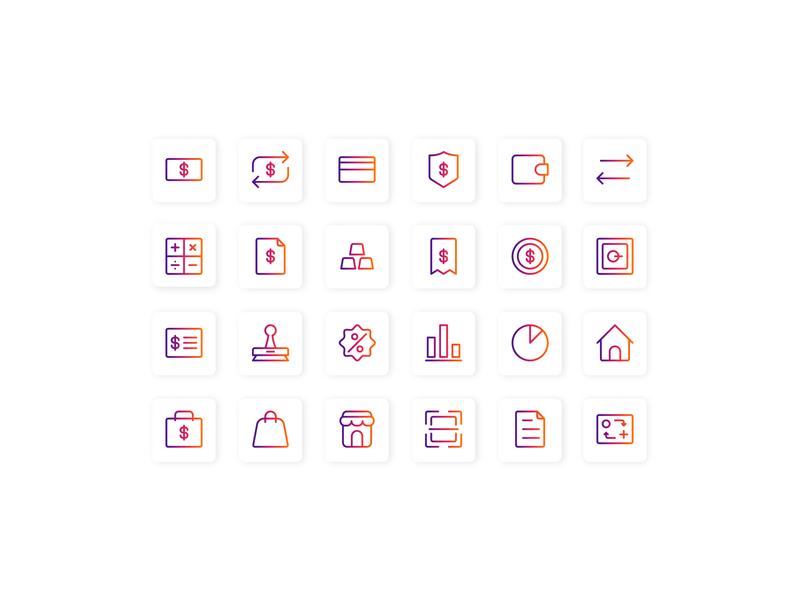 Account and Finance ui web design ui design userinterface iconutopia icon set ui  ux design icon design icon iconography