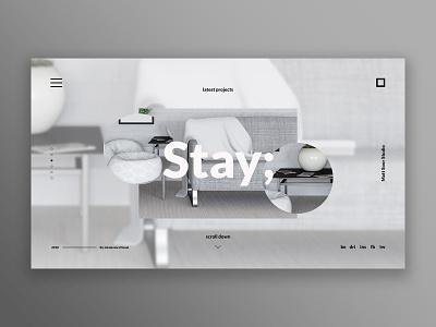 Stay ui design ui ux landing page ui  ux design web design