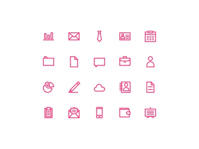Basic Business Icon - Outline landing page web design homepage pixelperfect userinterface uidesign icon design user interface outline iconutopia iconography icon