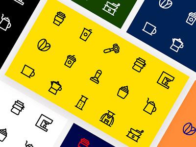 Coffee icon set pixelperfect coffee tools coffee icon icon icon designs icon set icons icon design coffee iconography iconset