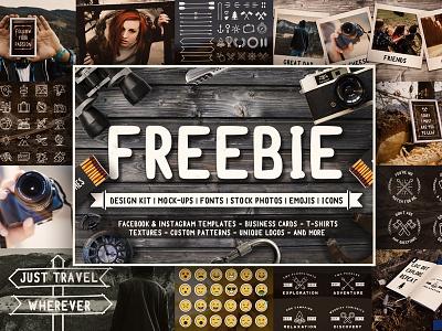Freebie! And a Huge Thank You! instagram creator icons emoji freebie mock travel photo font logo free