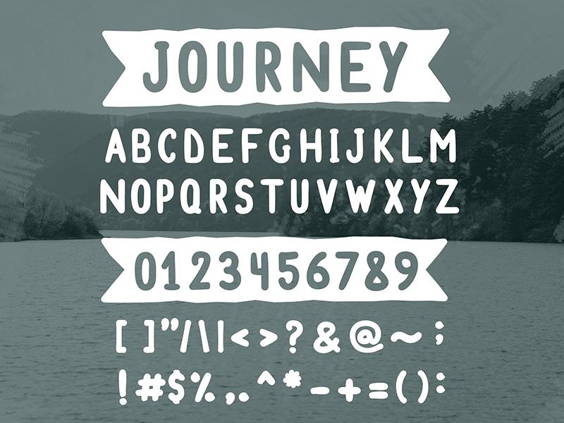 FREE Font - Journey soft brush round freebie free journey travel font
