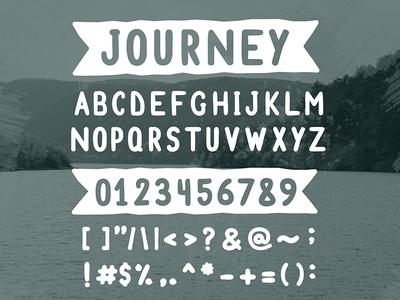 FREE Font - Journey