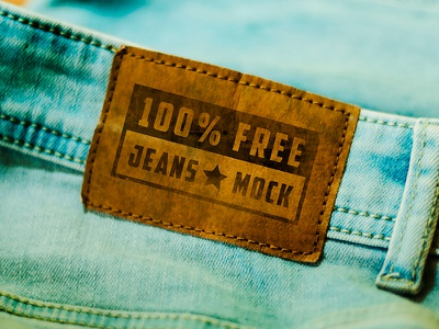 FREE Mock-up! Jeans Tag apparel tag clothes clothing mockup mock freebie free jeans