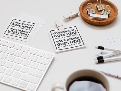 FREE Mock-up! White Desk coffee mockup mock keyboard freebie free feminine entrepreneur desk design
