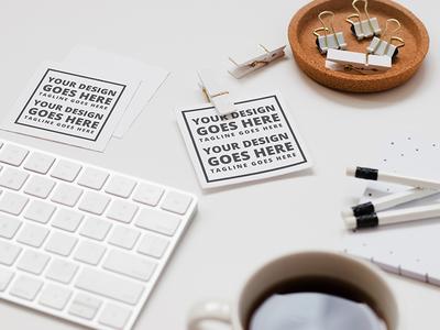 FREE Mock-up! White Desk
