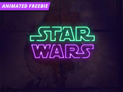 Neon Photoshop Animation