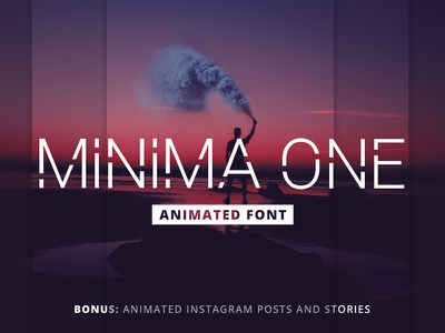 Minima One - Animated Font psd freebie logo minimalist animated typeface font type