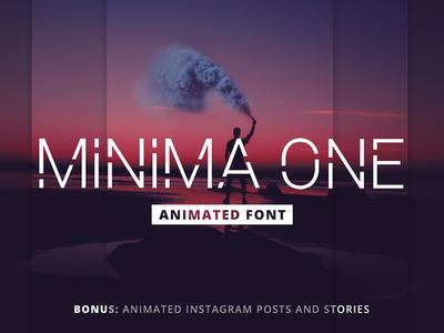 Minima One - Animated Font