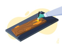 1. Arqueologia vector flat design illustration