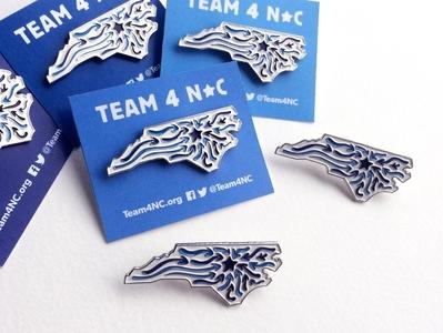 Team4NC Enamel Pins politics branding enamelpin