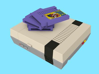 Nintendo Console nintendo gaming modeling c4d