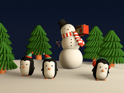 Holiday Jams holidaycard schoolofmotion c4d modeling
