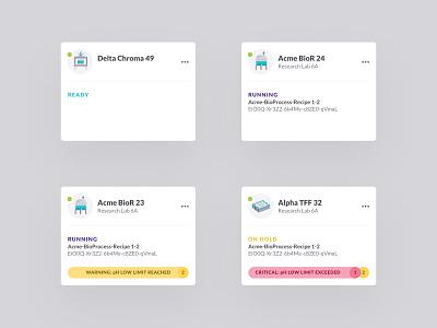 Bio4C Orchestrator Card UI figma card ui dashboard ui dashboard web application web science biotech product design ui digital design