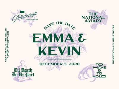 Save The Date kevin emma typography illustration invitation invite wedding savethedate