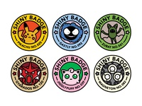 Shiny Pokemon Badges